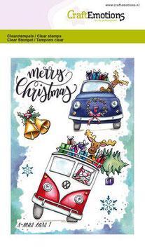 """Clearstamp """"Christmas Cars #1"""" - CraftEmotions"""