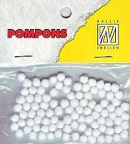 Mini Pompoms weiß - Nellie's Choice