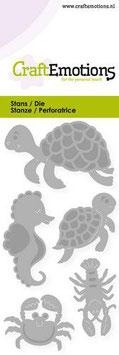 """Stanzschablone """"Schildkröte, Seepferdchen"""" - CraftEmotions"""