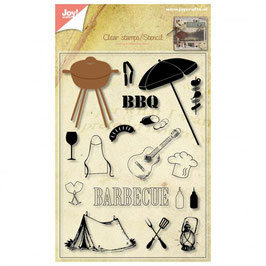 "Clearstampset mit Stanze ""BBQ"" - Joy""Crafts"