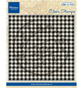 "Clearstamp ""Anja's Plaid"" - Marianne Design"