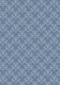 Vintage Blue Swirls - Reprint