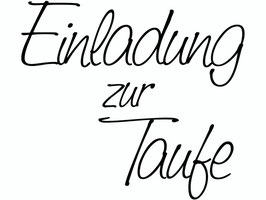 """Holzstempel """"Einladung zur Taufe"""""""