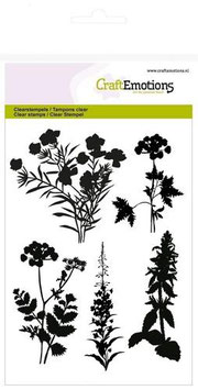 Silhouette Roadside Plants - CraftEmotions