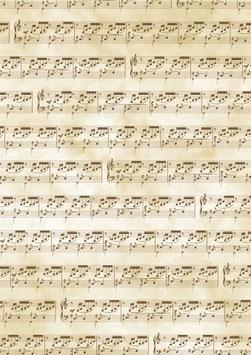 Transparentpapier Noten