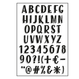 "Clearstamp ""Alphabet Vintage"" - Paperfuel"