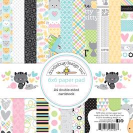 Kitten Smitten 6x6 Paperpad - Doodlebug