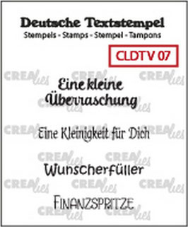 "Clearstamp ""Viel #07"" - Crealies"
