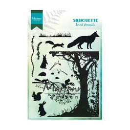 "Clearstamps ""Silhouette Forest Animals"" - Marianne Design"