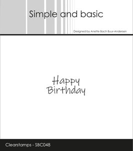 "Clearstamp ""Happy Birthday"" - Simple and Basic"