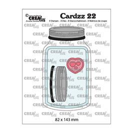 """Stanzschablone """"Cardzz #22 Glas mit Deckel"""" - Crealies"""