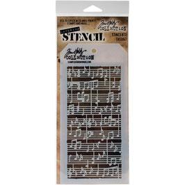 """Layered Stencil """"Concerto"""" - Tim Holtz"""