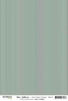 Dark Green Stripes - Reprint