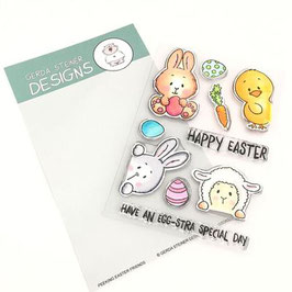 "Clearstampset ""Peeking Easter Friends"" - Gerda Steiner Designs"