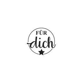 """Holzstempel """"Für Dich"""""""