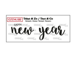 """Clearstamp """"Happy New Year (solid) - Crealies"""