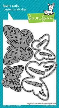 "Stanzschablone ""Layered Butterflies"" - Lawn Fawn"