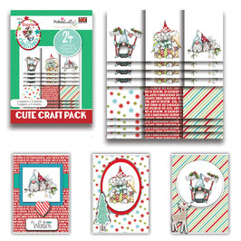 Gnome Together Christmas Cute Craft Topper Pack - Polkadoodles