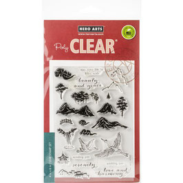 "Clearstamps ""Ink Painting Scene"" - Hero Arts"