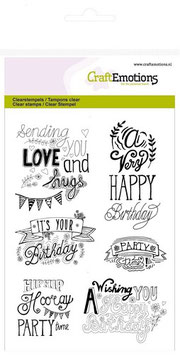 "Clearstamp ""Birthday Handlettering"" - CraftEmotions"