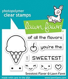 "Clearstamps ""Sweetest Flavor"" - Lawn Fawn"