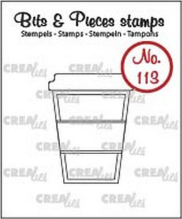 "Bits&Pieces #113 ""Mug To Go"" - Crealies"