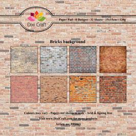 "Paper Pack ""Colored Bricks Background"" - Dixi Craft"