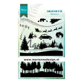"""Clearstamp """"Silhouette Christmas"""" - Marianne Design"""