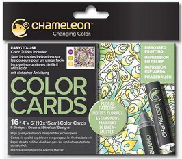 Color Cards Blumenmuster - Chameleon