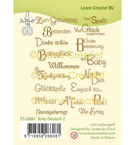 "Clearstamp ""Deutsche Texte 2"" - Leane Creatief"