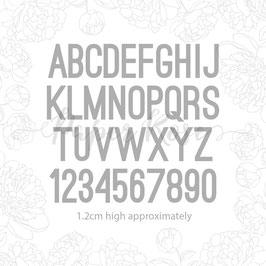 Mini Alphabet & Numbers, Stanze - Paper Rose