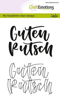"Clearstamp ""Handletter - Guten Rutsch"" - CraftEmotions"