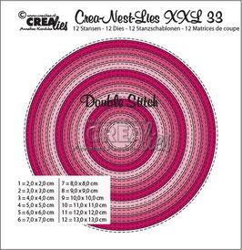 "Crea-Nest-Lies XXL ""Double Stitch Circles"" - Crealies"