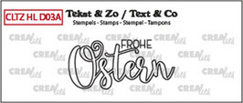 "Clearstamp ""Handlettering - Frohe Ostern (outline)"" - Crealies"