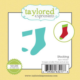 "Stanzschablone ""Stocking"" Little Bits - Taylored Expressions"