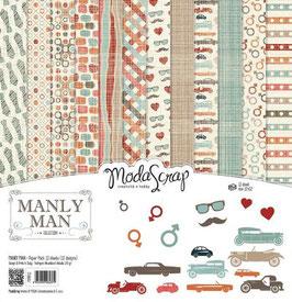 Manly Man 6x6 - Moda Scrap