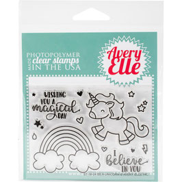 "Clearstamp ""Be Unicorn"" - Avery Elle"