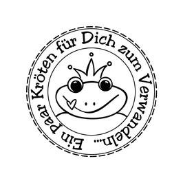 """Holzstempel """"Kröten zum Verwandeln"""""""