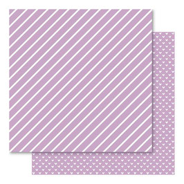 Hearts & Stripes Foiled Cardstock, Orchid - Bella