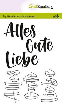"Clearstamp ""Alles Gute/Liebe - Handlettering"" - CraftEmotions"
