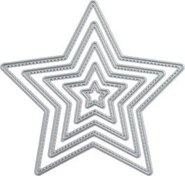 """Stanzschablone """"Stitches Stern"""" - Knorr Prandell"""