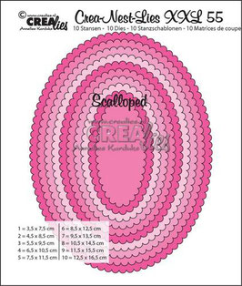 "Crea-Nest-Lies XXL #55 ""Scalloped Oval"" - Crealies"