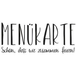 """Holzstempel """"Menükarte - Schön, dass wir..."""""""