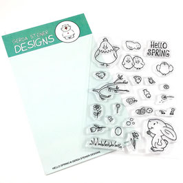 "Clearstamp ""Hello Spring"" - Gerda Steiner Designs"