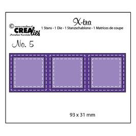 X-tra #5, 3 Squares - Crealies