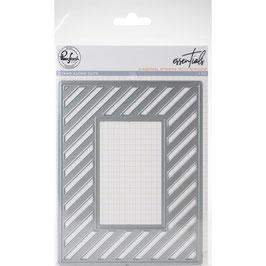 Fancy Diagonal Stripes with Window - Pinkfresh Studio