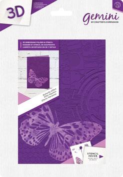 """3D Prägeschablone """"Butterfly Effect"""" - Gemini"""