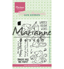 """Clearstamps """"Eline's Christmas Mice"""" - Marianne Design"""