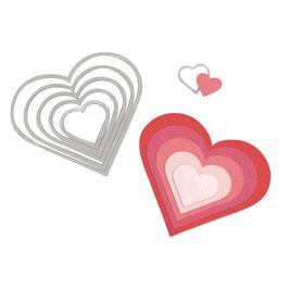 Framelits Schablonen-Set Hearts - Sizzix