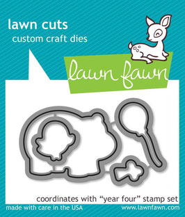 "Stanzschablone ""Year Four"" - Lawn Fawn"